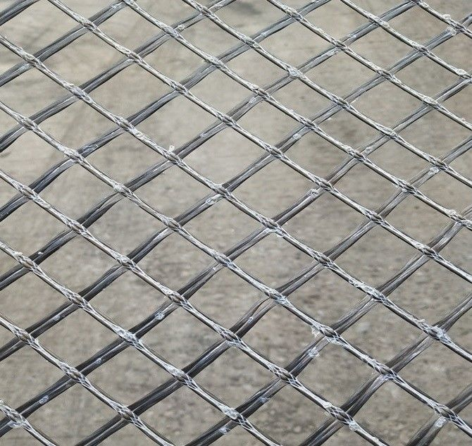 Basalt Filament Woven 6ms Geogrid Fabric Coated With Bitumen